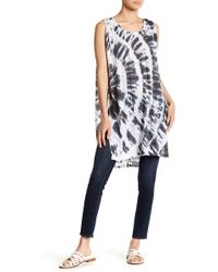 Threads For Thought - Citrine Linen Blend Tie Dye Tunic - Lyst