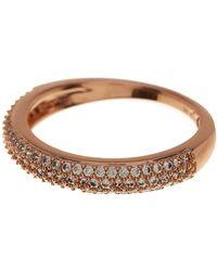 Nadri - Pave Cz Thin Band Ring - Size 5 - Lyst