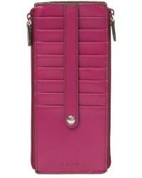 Lodis - Joan Rfid Leather Double Zip Card Case - Lyst