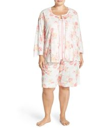 Carole Hochman - Cotton 3-piece Pyjama Set (plus Size) - Lyst