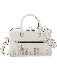 Marc Jacobs - Recruit Chipped Stud Leather Bauletto Bag - Lyst