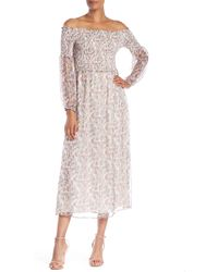 Cece by Cynthia Steffe - Abbey Smocked Off-the-shoulder Dress - Lyst