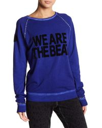 FREE CITY - Fuzzy We Are The Beat Raglan Sweater - Lyst