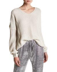 Oober Swank - Lace Up Back Sweater - Lyst