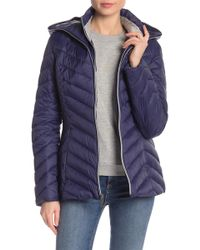 Laundry by Shelli Segal - Ribbed Lightweight Puffer Jacket - Lyst