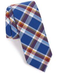 1901 - 'forte' Plaid Cotton Tie - Lyst