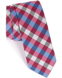 1901 - 'lowell' Check Silk Blend Tie - Lyst
