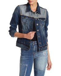 True Religion | Contrast Panel Denim Jacket | Lyst