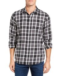 Travis Mathew - Garner Slim Fit Plaid Sport Shirt - Lyst