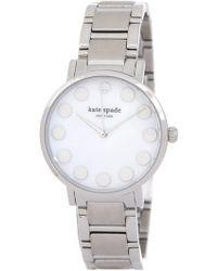 Kate Spade - Women's Gramercy Dot Dial Bracelet Watch - Lyst