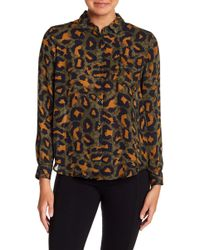 Philosophy Apparel - Patterned Long Sleeve Button Down Shirt - Lyst