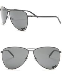 5a9f559cd1a3 Gucci Women's Rounded Aviator Acetate Sunglasses in Natural - Lyst