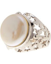 Tara Pearls - Sterling Silver 16mm White Freshwater Pearl Dome Ring - Size 7 - Lyst