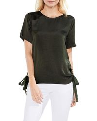 Vince Camuto - Side Drawstring Rumple Blouse - Lyst