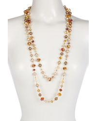 Carolee - Beaded Rope Necklace - Lyst