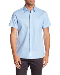 Calvin Klein - Short Sleeve Button Down Shirt - Lyst