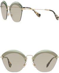 23c5501aae092 Miu Miu Butterfly 52mm Acetate Frame Sunglasses in Pink - Lyst
