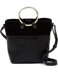 a4696d37dc Lyst - Halston Heritage Dyan Flap Leather Crossbody Bag in Black