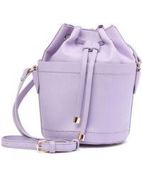 Moda Luxe - Drawstring Mini Bucket Bag - Lyst