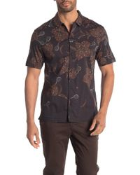 AllSaints - Kauai Short Sleeve Regular Fit Shirt - Lyst