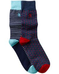 Original Penguin | Gabriel & Balboa Crew Socks - Pack Of 2 | Lyst