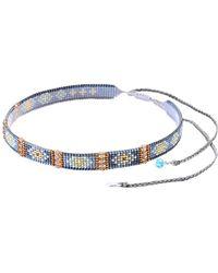Mishky Nahui 6 Beaded Stone Choker Necklace