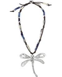 Uno De 50 - Supercalidragonflystic Leather Choker Beaded Necklace - Lyst