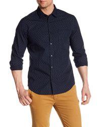 Good Man Brand - Diamond Long Sleeve Trim Fit Shirt - Lyst