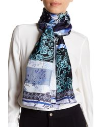 Max Studio - Mixed Patchwork Oblong Print Silk Scarf - Lyst