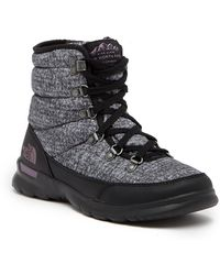 The North Face - Thermoball Lace Ii Faux Fur Waterproof Ankle Boot - Lyst