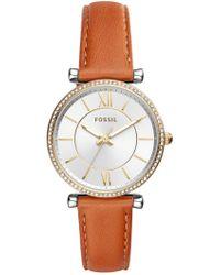 Fossil - Women's Carlie Crystal Analog Quartz Watch, 35mm - Lyst