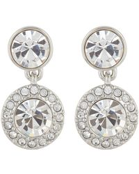 Givenchy - Pave Crystal Double Round Drop Earrings - Lyst