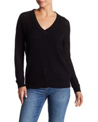 Vero Moda - V-neck Ribbed Sweater - Lyst