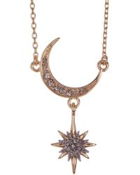 Vince Camuto - Crescent & Star Pendant Necklace - Lyst