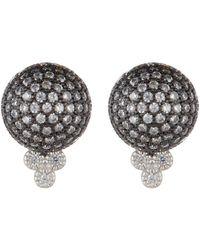 Freida Rothman - Quintessential Pave Ball Stud Earrings - Lyst