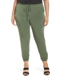 Sejour - Zip Ankle Jogger Pants (plus Size) - Lyst