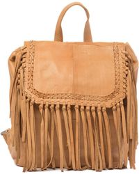 Day & Mood - Anna Leather Fringe Backpack - Lyst