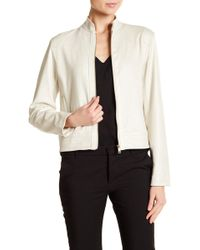 Ellen Tracy - Perforated Moto Jacket - Lyst
