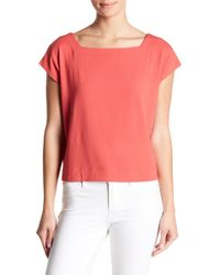Eileen Fisher - Square Neck Tee - Lyst