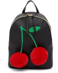 T-Shirt & Jeans - Faux Fur Cherry Backpack - Lyst
