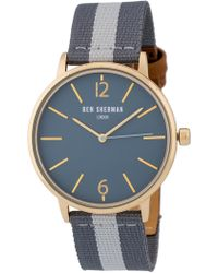 Ben Sherman Men's Portobello Stripe Watch, 41mm - Gray
