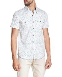 Xray Jeans - Striped Short Sleeve Slim Fit Shirt - Lyst