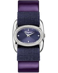 Ferragamo - Women's Varina Diamond Accent Swiss Quartz Watch, 26mm X 27mm - 0.20 Ctw - Lyst