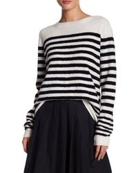 Vince - Striped Wool-blend Jumper - Lyst