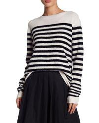 Vince - Striped Wool-blend Jumper - Lyst