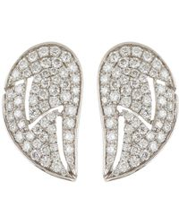 88559ca84 Dana Rebecca 14k White Gold Carly Brook Wing Diamond Stud Earrings - 0.88  Ctw