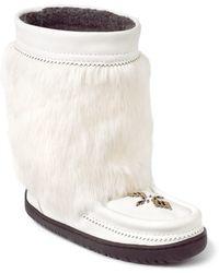 Manitobah Mukluks - Genuine Rabbit Fur & Sheepskin Half Grain Mukluk - Lyst