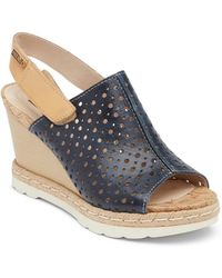 Pikolinos - Bali Leather Wedge Sandal - Lyst