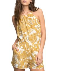 RVCA - Hot Water Print Romper - Lyst
