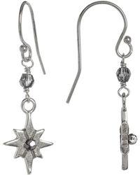 Chan Luu - Sterling Silver Crystal Accented Starburst Dangle Earrings - Lyst